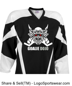 Goalie Dojo Jersey - Style 1, Youth Design Zoom